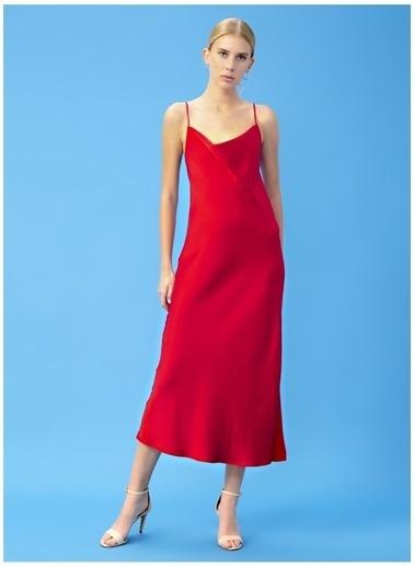 Derin Mermerci X Boyner Elbise Kırmızı